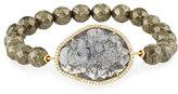 Tai Pyrite Rock Crystal Bead Bracelet