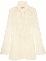 Lanvin Ruffled Lace Blouse - Ivory