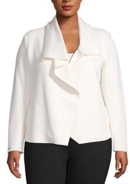 Anne Klein Plus Size Asymmetric Jacket