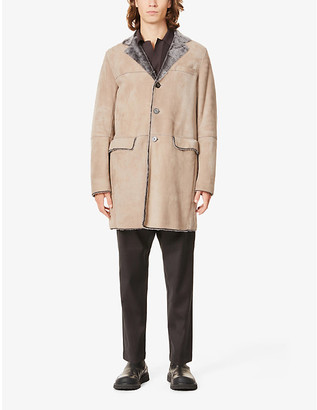 Emporio Armani Suede and shearling coat