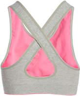 Ellen Tracy Pink & Beige Cross-Strap Seamless Sports Bra
