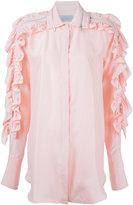 Preen by Thornton Bregazzi ruffled sleeve shirt - women - Silk - S