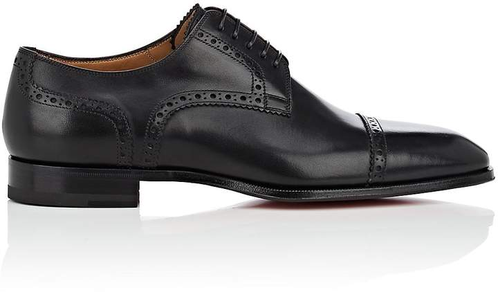 Christian Louboutin Men's Cousin Charles Leather Bluchers