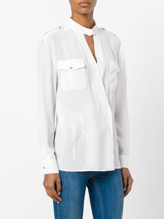 Alberta Ferretti cross over shirt