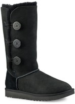 UGG Bailey Button Triplet Sheepskin-Lined Suede Boots
