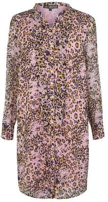 Biba Leopard Tie Shirt Dress