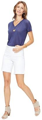 NYDJ Petite Petite 9 Pull-On Shorts in Optic White (Optic White) Women's Shorts
