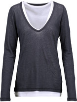 Majestic Layered cotton and cashmere-blend top