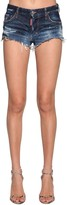 DSQUARED2 Denim Cotton Micro Shorts