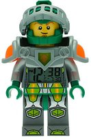 Lego Nexo Knights Aaron Kids Minifigure Light Up Alarm Clock | green/grey | plastic | 9.5 inches tall | LCD display | boy girl | official