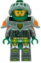 LEGO Nexo Knights Aaron Kids Minifigure Light Up Alarm Clock | green/grey | plastic | 9.5 inches tall | LCD display | boy girl | official