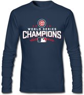 Querins Men's Chicago Cubs Royal 2016 World Series Champions Long Sleeve T Shirt