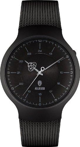Alessi (アレッシー) - Alessi al27002 Dressed Wrist Watch inステンレススチールand Metal ,ブラック