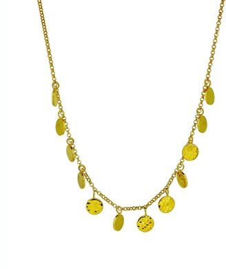 Yvonne Henderson Jewellery Romany Coin Hammered Disc Necklace