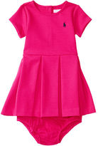 Ralph Lauren Pleated Ponte Dress & Bloomer