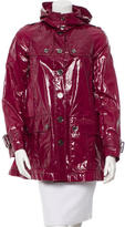 Burberry Hooded Button-Up Raincoat