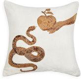 Jonathan Adler Muse Snake & Apple Pillow