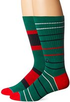 Stance Men's Unit 32 Holiday Stripe Arch Support Classic Crew Sock