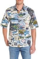 Reyn Spooner Men's New York Yankees Print Camp Shirt