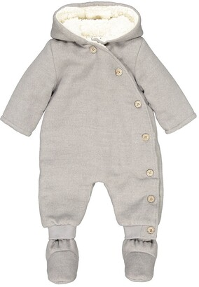 La Redoute Collections Warm Hooded Snowsuit, 1 Month-2 Years