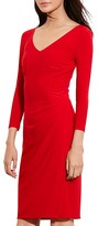 Lauren Ralph Lauren V-Neck Dress