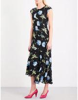 Topshop floral-print silk dress
