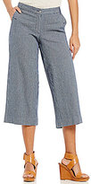 Jones New York Railroad Stripe Stretch Denim Culotte Pants