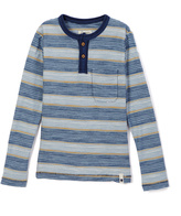 Lucky Brand Indy Blue Crafted Henley - Boys