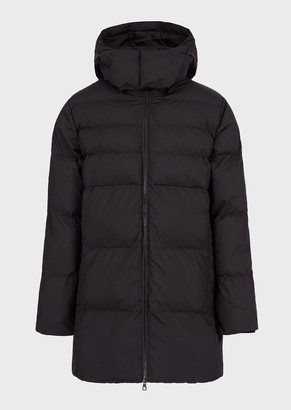 Ea7 Hooded Jacket With Full-Length Zip