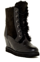 Australia Luxe Collective Brogue Hidden Wedge Genuine Shearling and Genuine Leather Boot