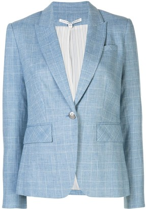 Veronica Beard Check Patterned Fitted Blazer Jacket