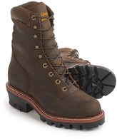 """Chippewa Logger Leather Work Boots - Waterproof, 9"""" (For Men)"""