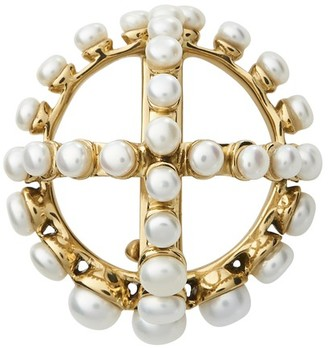 Patou Round brooch with perles