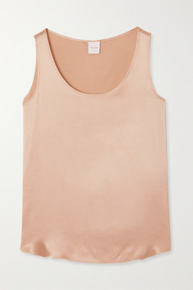Max Mara Leisure Pan Stretch-silk Satin Tank - Beige