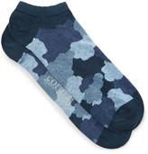 Corgi Camouflage-print Cotton-blend Socks - Blue