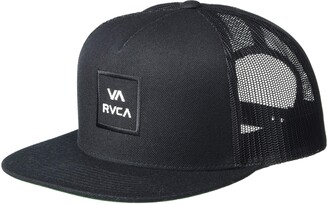 RVCA Mens Men's Adjustable Snapback Mesh Trucker Hat Baseball Cap