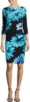 Ronni Nicole RN Studio by 3/4-Sleeve Side-Ruched Sheath Dress - Petite