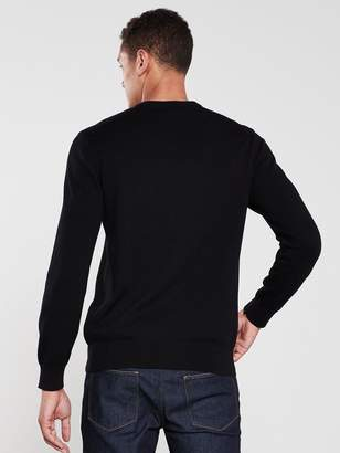 Armani Exchange Logo Knitted Jumper - Black