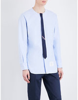Thom Browne Shark-print Trompe L'oeil Tie Cotton Shirt