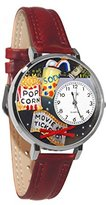 Whimsical Watches Women's U0420013 Unisex Silver Movie Lover Silver Leather And Silvertone Watch