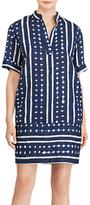 Lauren Ralph Lauren Linen Blend Shift Dress, Navy