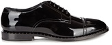 Jimmy Choo Penn Patent-leather Studded Derby Shoes
