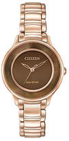 Citizen Eco-Drive Circle of Time Rose-Goldtone Stainless Steel Bracelet Watch