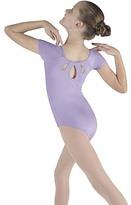 Bloch Lilac Spiral Sequin Cap-Sleeve Leotard - Toddler & Girls