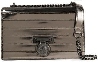 Balmain Paneled Metallic Leather Shoulder Bag