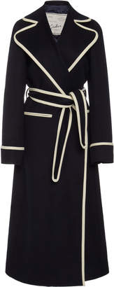 Giuliva Heritage Collection Belinda Contast-Trim Belted Cashmere Coat