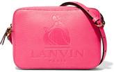 Lanvin So Embossed Textured-leather Shoulder Bag - Pink