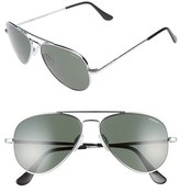 Randolph Engineering Men's 'Concorde' 57Mm Aviator Sunglasses - Bright Chrome