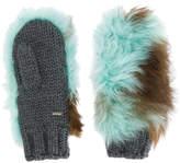 Prada shearling mittens