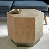 Geo Hex Side Table - Cork